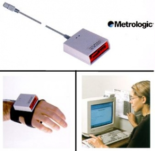Metrologic IS4225 ScanGlove, USB, Světle šedá